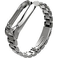 Para Xiaomi MI Banda 2, DoraMe Imán de acero inoxidable de lujo correa de muñeca Wristband metal (Plata)