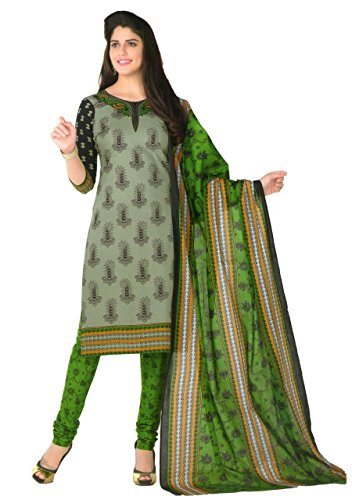 Shivani Women's Cotton Dress Material (130SHIVANIPD_Free Size_Green;Black) Rajasthani ( ISO Certified) Grey and Black Colour Printed 100% Pure Cotton Unstitiched Salwar Suit Dress Material with Dupatta for Women | kothrud | bazaar
