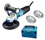 Betonschleifer / Sanierungsfräse / Winkelschleifer Set AVT mit Drehzahlregelung 125mm thumbnail