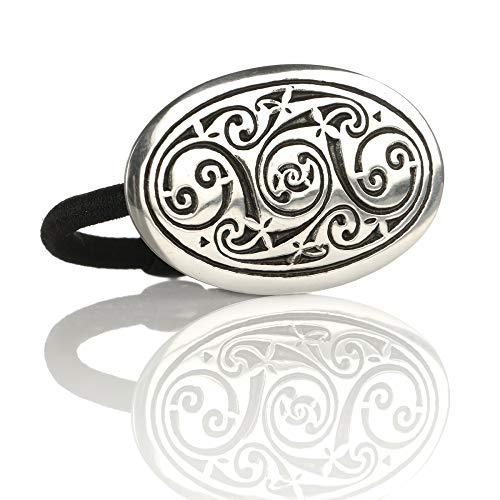 Celtic Swirls - Ovales Haargummi mit keltischem Muster - Made in England Highland Swirl