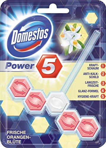Domestos WC-Stein Power 5 Frische Orangenblüte, 6er Pack (6 x 55 g)