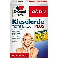 Doppelherz Kieselerde Plus – Zink und Selen als Beitrag für den Erhalt normaler Nägel – Biotin für Haare und Haut – 1 x 30 Tabletten