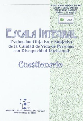 Escala integral. Cuestionario (Instrumentos Evaluacion) (Angel Benito Miguel)