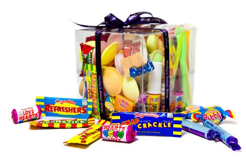 80's Retro Sweets Gift Cube, packed with retro favourites
