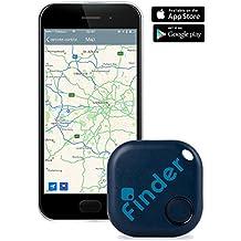musegear® finder Trova chiavi (blu oscuro) | Ritrovare tutto semplicemente con un app gratuita (iPhone & Android) | Gadget da cellulare come portachiavi o accessorio per auto