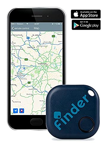 musegear® Key finder   Use smart-phone app to easily find your keys, remote control, phone (dark blue, 1 Pack)