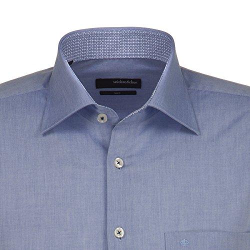 Seidensticker -  Camicia classiche  - Basic - Classico  - Uomo Blu