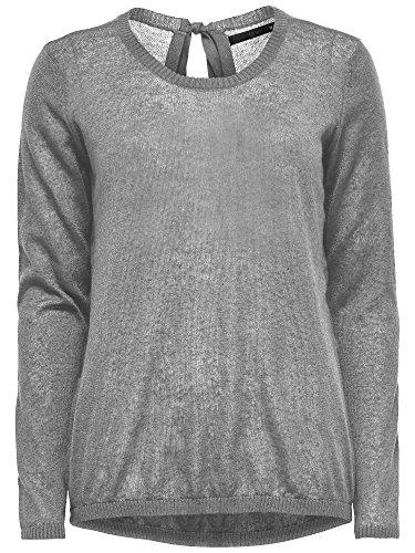 femmes pull en tricot Rush L/S Pullover Knt crème-blanc gris bleu LIGHT GREY MELANGE - hellgrau meliert