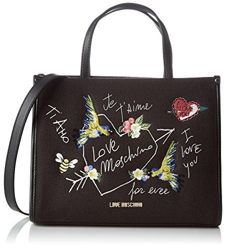 love-moschino-damen-henkeltasche-schwarz-black-canvas-10-x-21-x-28-cm
