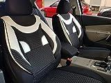 Sitzbezüge k-maniac | Universal schwarz-Weiss | Autositzbezüge Set Vordersitze | Autozubehör Innenraum | Auto Zubehör für Frauen und Männer | V430203 | Kfz Tuning | Sitzbezug | Sitzschoner