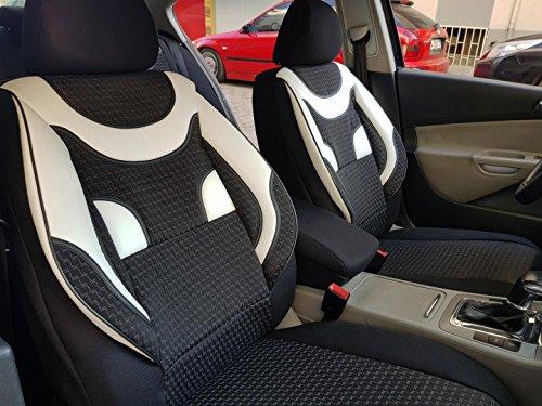 Sitzbezüge k-maniac | Universal schwarz-Weiss | Autositzbezüge Set Vordersitze | Autozubehör Innenraum | Auto Zubehör für Frauen und Männer | V436203 | Kfz Tuning | Sitzbezug | Sitzschoner