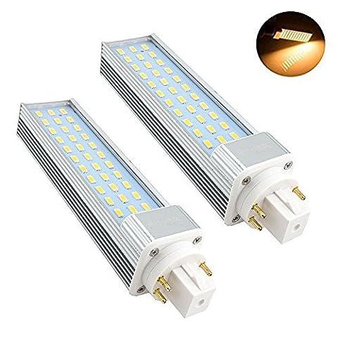 Bonlux Warm White 3000K 180 degrés 26W Fluorescent Equivalent Ampoule LED GX24Q / G24Q PL Horizontal Encastré dans la lumière 2-Pack 13W GX24 4 Pin LED Retrofit Lamp (Retirer / by-pass du ballast)