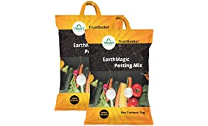 Trust basket Enriched Premium Organic Earth Magic Potting Soil Mix Fertilizer for Plants, 10kg