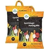 Trust basket Enriched Premium Organic Earth Magic Potting Soil Mix Fertilizer for Plants, 10kg