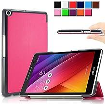 Infiland ASUS Zenpad 8.0 Z380KL / Z380C Funda Case-Ultra Delgada Tri-Fold Smart Case Cover PU Cuero Smart Cascara con Soporte para Asus Zenpad 8.0 Z380KL / Z380C Entertainment Pad (8 pulgadas) Tablet-PC(con Auto Reposo / Activación Función)