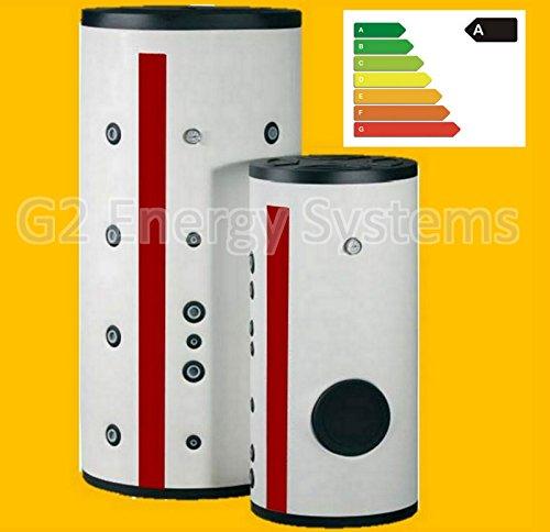 200 300 Liter Warmwasserspeicher mit 1 oder 2 Wärmetauscher und Energieeffizienzklasse A