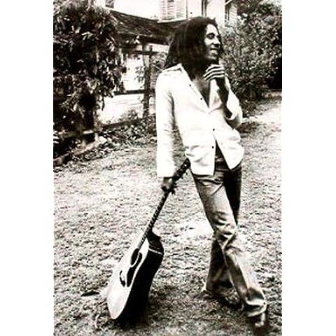 GIANT di carta, motivo: Bob Marley chitarra, misure un enorme 139,70 99,06 cm x 39 x (55