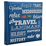 """Arpan 6"""" x 4"""" 200 Photos Large Slip in Photo Album Special BLUE Memo Book - With Index Page/DVD Pockets"""