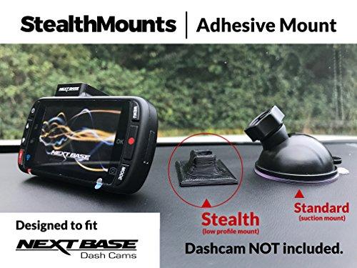 NEXTBASE Dash Cam selbstklebend Auto Windschutzscheibe Halterung von stealthmounts für Nextbase 312GW, 412GW, 512GW, 612GW, 112Lite, 212Lite–3dprinted Neat Dash Cam Stealth Halterung für Nextbase selbstklebend Halterung. Autokameras