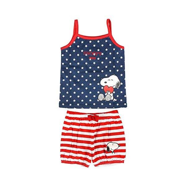 ARTESANIA CERDA Pijama Corto Single Jersey Snoopy Conjuntos Bebés 1