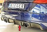Rieger Heckeinsatz schwarz matt für Audi TT (8J-FV/8S): 07.14-