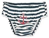 Playshoes UV-Schutz Windelhose Maritim zum Knöpfen Costume-Pannolino, Blu (Marine/Weiß 171), 62 (Taglia Produttore: 62/68) Bimbo