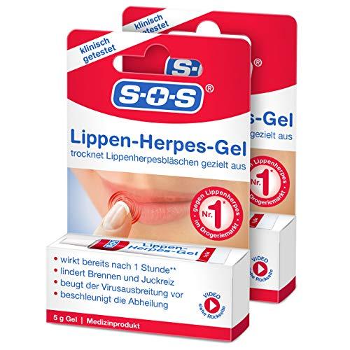 SOS Lippenherpes-Gel (2er Pack) - Gel zur äußerlichen Anwendung bei Lippenherpes