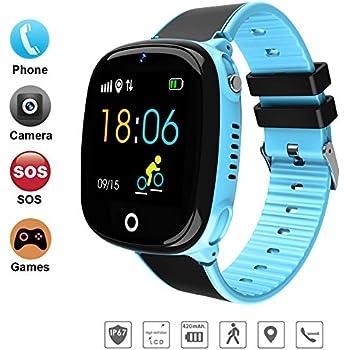 DUWIN 2019 Niños Inteligente Relojes, GPS Kids SmartWatch con Camara, Flash luz, SOS