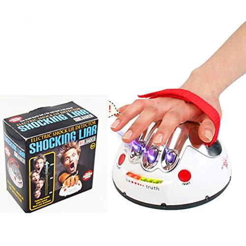Mmyunx Lustiges Polygraph Adever Varium Test Electric Shock Lie Detektor Shocking Liar Wahrheit oder Dare Game Konsolen Brettspiel