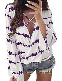Mujer blusa tops Manga larga verano y Otoño moda urbano,Sonnena Las mujeres sólida camisa de manga larga blusa botton casual O cuello Tops más tamañoOtoño verano fiesta citas playa
