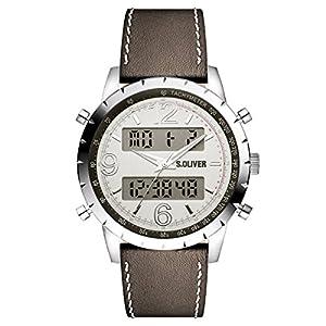 s.Oliver Herren-Armbanduhr Analog Digital Quarz Leder SO-15146-LDR