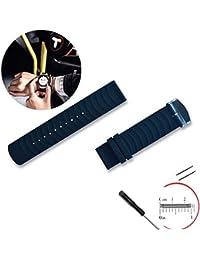 nextany 20mm/200mm Sport Smart Bracelet de Montre de rechange en silicone avec 2broches Outil Tournevis pour Samsung Gear S2classique