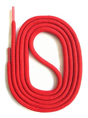 SNORS - Schnürsenkel - SICHERHEITSSENKEL Rot 200cm, ca. 5mm - RUNDSENKEL für Arbeitsschuhe, Wanderschuhe, Trekkingschuhe