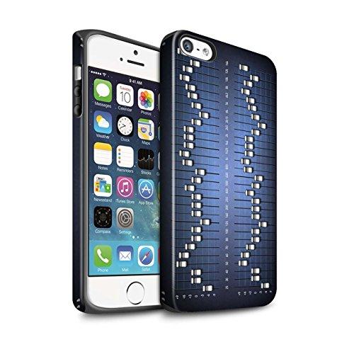Coque Matte Robuste Antichoc de STUFF4 / Coque pour Apple iPhone 8 / Compact Cassette Audio Design / Retro Tech Collection Égaliseur Graphique