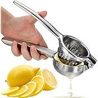 OVOS Zitruspresse Zitronenpresse hergestellt aus robustem 18/10 Edelstahl- Zitronen- und Limettensaftpresse für ein maximales Ergebnis BPA-frei und spülmaschinenfest