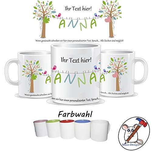 Tasse mit Name und individuellem Text/personalisierte Tasse mit Name/Danke / Muttertag/Geburtstag / Besserung/TEXT OBEN UNTEN UND NAME PERSONALISIERBAR
