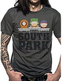 officielle South Park–Groupe–Unisexe T pour homme en gris anthracite