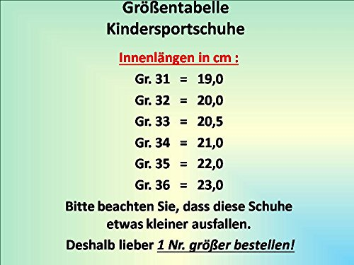 Gibra ® le gymnase pour enfant noir/orange fluo taille 31–36 Noir - Schwarz/Neonorange