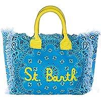 Saint Barth Borsa Donna MOD. Vanity Riga Blu