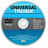 Treiberinstallation auf CD DVD für Windows10,8,7,Vista,XP 32 und 64 Bit