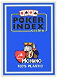 Modiano Texas Poker 4 Mini Index azzurro - Carte da gioco Texas Poker