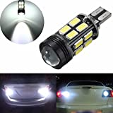 #9: HITSAN T15 16SMD 5630 Backup Reverse LED Light Projector Bulb 6000k White One Piece