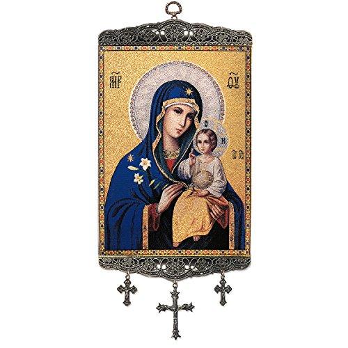 Madonna und Kind Virgin Mary Eternal Bloom Tapisserie Icon Banner 45,7cm