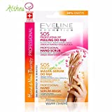 EVELINE Cosmetics Hand and Nails Therapy Set of 3 Hand Scrubs 6ml and Masks-Serum 6ml 3 x 12ml