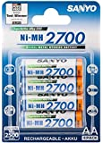 Sanyo HR-3U-2700-4BP Mignon Akku Typ AA, 2700mAh, 4er Blister