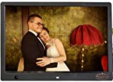 PicaVue Ultra Slim 15 Inches Digital Photo Frame High Resolution with Motion Sensor, Black