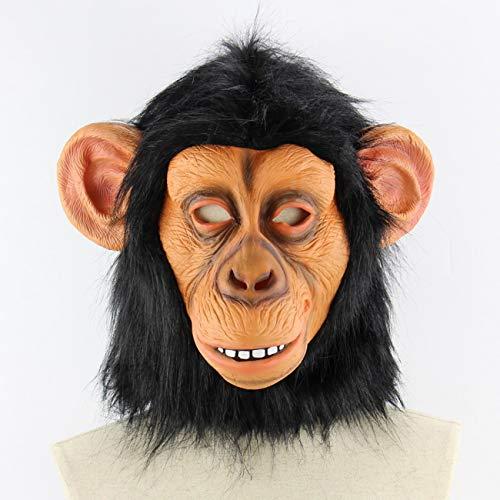 Fannty Halloween-Kostüm Latex lustige Gorilla Maske Tiermaske Erwachsene Größe