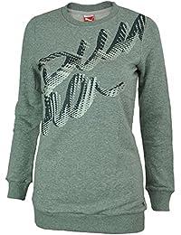 Puma Script Sweatshirt Tunic Femme Tunique Sweat Gris