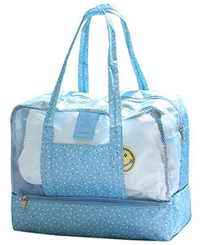 5 ALL Schwimmen Strandtasche Nasse und Trockene Trennung Unisex Wasserdichte Tasche Große Kapazität Badetasche Schwimmtasche Multifunktion Lagerung Tasche