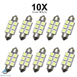 10x T10 W5W 168 194 5 LED 5050 SMD Canbus SANS ERREUR Anti ODB Blanc Lampe Veilleuse Lumiere Voiture 1W LED Lampes